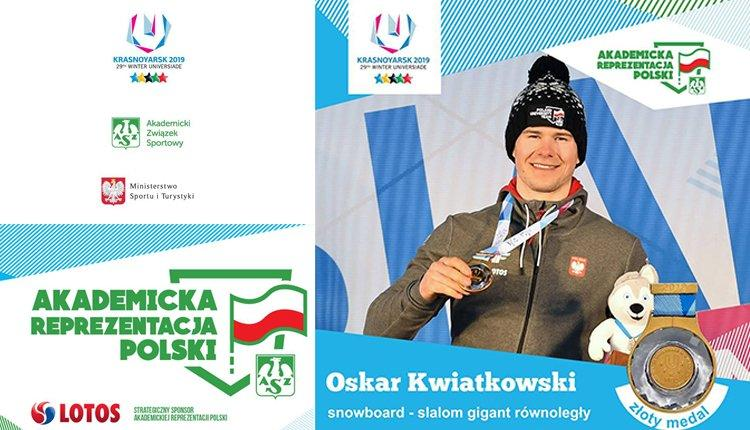 Złoto Oskara Kwiatkowskiego - studenta AWF w Krakowie podczas 29. Zimowej Uniwersjady